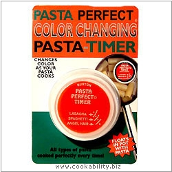 Burton In the Pan Pasta Timer (Pasta Perfect). Original product image, © Cookability