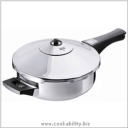 Duromatic Inox Frypan 24cm. Derived work from original images, © Kuhn Rikon (UK) Ltd, used with permission.