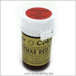 Food Colour Paste Christmas Red. Original product image, © Cookability
