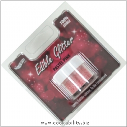 Culpitt Pastel Pink Edible Glitter. Original product image, © Cookability