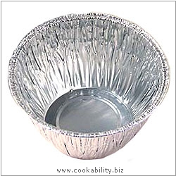 Caroline Foil Pudding Basins. Original product image, © Cookability