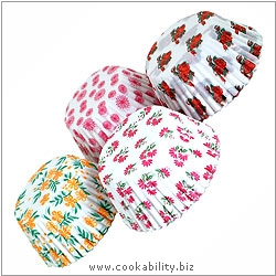 Easybake Floral Muffin Cases. Original product image, © Cookability