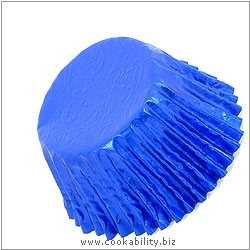 Foilcraft Royal Blue Muffin Cases. Original product image, © Cookability
