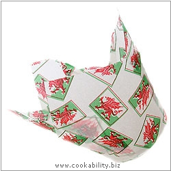 Easybake Tulip Muffin Wraps Welsh Flag. Original product image, © Cookability