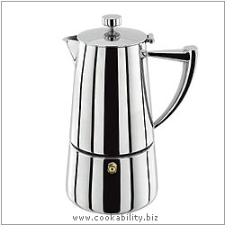 Art Deco Espresso Maker. Derived work from original images, © Horwood Homewares Ltd, used with permission.