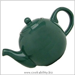 London Pottery Green Teapot. Original product image, © Cookability