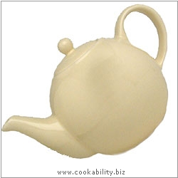 London Pottery Ivory Teapot. Original product image, © Cookability