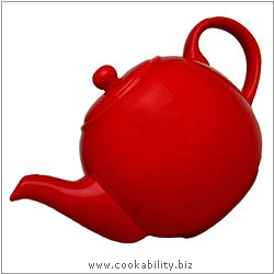 London Pottery Red Teapot. Original product image, © Cookability