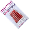 Cookability Glitter Candles Red