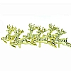 Xmas Cake Decorations Six Gold Reindeer
