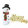 Xmas Cake Decorations Snowman and Merry Christmas
