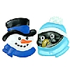 Culpitt Snowman and Penguin Ring Set