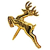 Xmas Cake Decorations Gold Reindeer