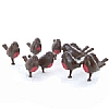 Xmas Cake Decorations Flock of Robin Redbreasts