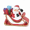 Xmas Cake Decorations Santa on Sleigh