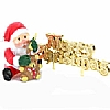 Xmas Cake Decorations Santa with Toy and Merry Christmas