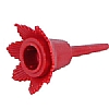 Cookability Red Birthday Cake Candle Holder