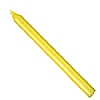Cookability Yellow Birthday Cake Candle