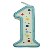 Culpitt Blue Birthday Numeral Candle - One