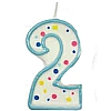 Culpitt Blue Birthday Numeral Candle - Two