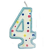 Culpitt Blue Birthday Numeral Candle - Four