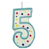 Culpitt Blue Birthday Numeral Candle - Five