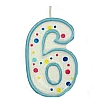 Culpitt Blue Birthday Numeral Candle - Six