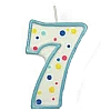 Culpitt Blue Birthday Numeral Candle - Seven