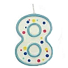 Culpitt Blue Birthday Numeral Candle - Eight