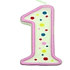 Culpitt Pink Birthday Numeral Candle - One