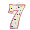 Culpitt Pink Birthday Numeral Candle - Seven
