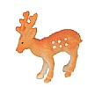 Xmas Cake Decorations Spotted Reindeer Small