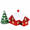 Xmas Cake Decorations House with Tree