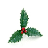 Xmas Cake Decorations Holly and Berries
