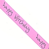 Ribbon Happy Birthday Pink