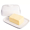 Kitchencraft Covered Butter Dish White