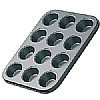 This category contains: Silver Anodised 12 Hole Bun Tray, Bakeware 24 Hole Mini Muffin Tin, Bakeware Large 6 Hole Muffin Pan,