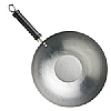 Pure Oriental Plain Steel Wok