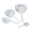 This category contains: Kitchencraft Round Sieve, Home made Spice Ball, Kitchencraft Pan Strainer,