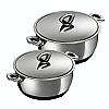 Durotherm Chrome Casserole Duo Set