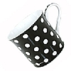 Fine Bone China Black Polka Dot Mug