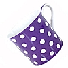 Fine Bone China Purple Polka Dot Mug