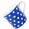 Fine Bone China Blue Polka Dot Mug