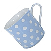 Fine Bone China Pastel Blue Polka Dot Mug