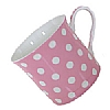 Fine Bone China Pastel Pink Polka Dot Mug