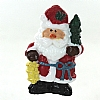 Xmas Cake Decorations Santa with Tree