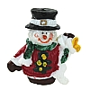 Xmas Cake Decorations Santa Snowman