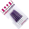 Cookability Glitter Candles Purple